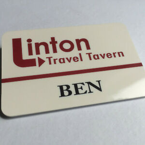 Ben - LINTON TRAVEL TAVERN - I'm Alan Partridge - Staff Name Badge - Glossy