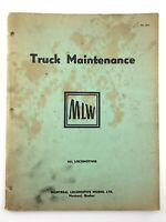 Truck Maintenance Montreal Locomotive Works MLW 1955 Train Guide Manual Q186