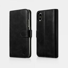 iPhone X/Xs Leather Case Real Wallet Detachable 2 In 1 Black