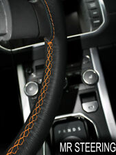 FOR TRIUMPH VITESSE 62-72 LEATHER STEERING WHEEL COVER ORANGE DOUBLE STITCHING
