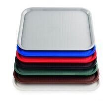 Tablett, Serviertablett, Kunststoff, GRAU, 35,0 x 27,0 cm, rutschhemmend