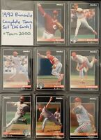 1992 & 1994 & 1996 Pinnacle (3 Sets) Cincinnati Reds Complete Teams (52 Cards)