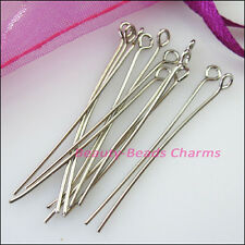 200Pcs Eye Pins Finding Connectors Gold Dull Silver Bronze Plated 16mm