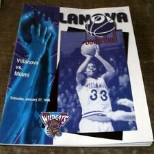 1996 VILLANOVA VS MIAMI BASKETBALL PROGRAM