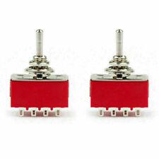 2pcs Mini 6mm Mts 402 Toggle Switch 12 Pin 2 Position Onon 5a125vac