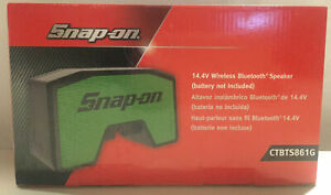 NEW! SNAP-ON TOOLS MECHANICS 14.4V WIRELESS PORTABLE USB SPEAKER SYSTEM GREEN