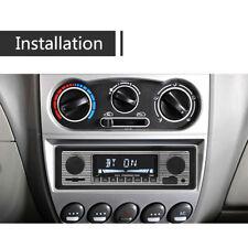 12V 1 Din Bluetooth Vintage Car Radio MP3 Player Stereo USB AUX Classic