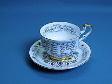 Paragon Happy Anniversary Cup & Saucer