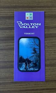 BOLTON VALLEY 1972-73 Ski Brochure Trail Map VERMONT Resort Souvenir Travel