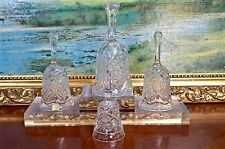 Collection Vintage Cut Glass Lead Crystal Table Bell Bells