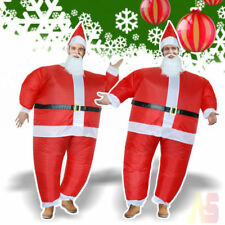 Unisex Christmas Santa Father Inflatable Costume Xmas Novelty Fancy Dress Outfit