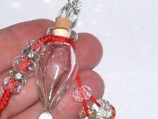 1pc Real Murano Bubble Tear drop Glass essential oil perfume bottle cork w/ hook