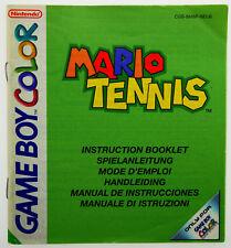 Mario Tennis Anleitung Handbuch Nintendo GameBoy Color CGB-BM8P-NEU6