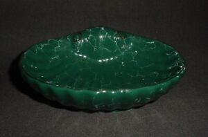 Shell Shaped Glazed Soap Dish with Gold Trim