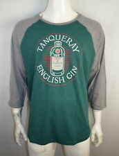 Lucky Brand Men's T-shirt L Raglan 3/4 sleeve English Gin Tanqueray  Green NWT