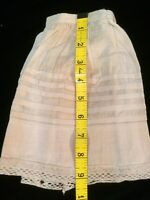 Antique Dolls Slip Skirt Petticoat Doll Primitive Teddy Bears Underwear