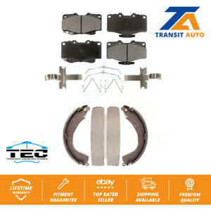 Front Rear Ceramic Brake Pads And Drum Shoes Kit For Toyota Tacoma 4Runner