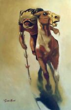Native American Indian Oil Painting