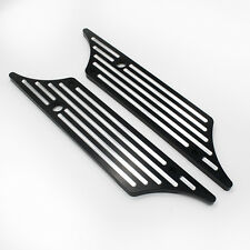 Pair Black Billet Edge CNC Cut Saddlebag Latch Cover For Harley Touring 93-13