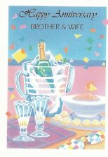 Anniversary Card with Envelope for Brother & Wife