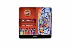 Pack of 24 Koh-I-Noor Polycolor Hexagonal Coloured Pencils With 3.8mm leads