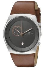 Skagen SKW6085 Men's Havene Klassik Leather Band Chronograph Slim Dress Watch