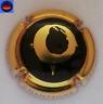 Capsule de Champagne Générique Dessin Grain de Raisin Or Contour Beige Cercle Or