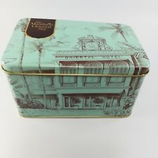 Retro metal square empty tin box gift storage collectible made in Thailand