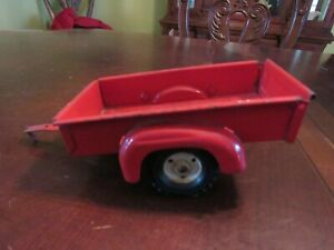 VINTAGE 1/16 SCALE TRU SCALE RED UTILITY TRAILER - VERY GOOD/EXCELLENT