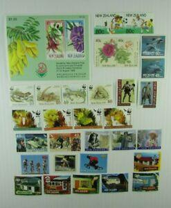 New Zealand Modern commemorates  Ass't MH stamps & souvenir sheet