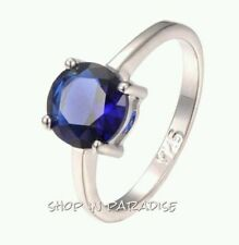 Handmade Sapphire White Gold Filled Fashion Jewellery