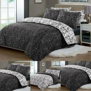 Double King Size Duvet Cover Set 100% Egyptian Cotton Quilt Covers Bedding Sets