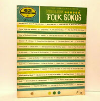 The Americana Book of Fabulous Folk Songs 62d Songbook 1960's