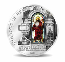 Cook Islands 10$ 2012 Windows of Heaven - Isaac´s Cathedral in ST. P, Silver, PL