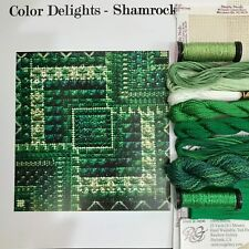 Needle Delights Debbie Rees Color Delights Shamrock Emerald counted Needlepoint