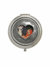 Disney Lady and the Tramp Heart Cutout Compact Double Mirror EASTER BASKET Gift