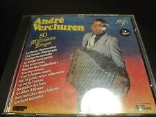 """RARE! CD """"ANDRE VERCHUREN - 50 MILLIONIEME DISQUE"""" accordeon"""