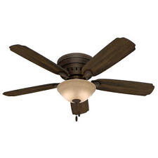 "52"" Old Walnut Led Light Indoor Ceiling Fan with Light Kit"