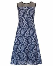 New UKULELE Navy Floral Lace Primrose Dress Cocktail & Party UK 8 BNWT
