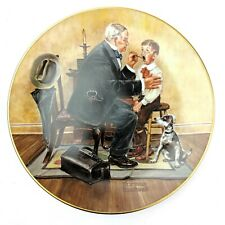 """Norman Rockwell """"Country Doctor"""" Classic Plate Collection 1982 Rockwell Museum"""