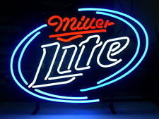 "New Miller Lite Real Glass Neon Light Sign Home Beer Bar Pub Sign 17""x14"""