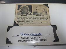 PABLO CASALS AUTOGRAPH SPANISH CELLIST