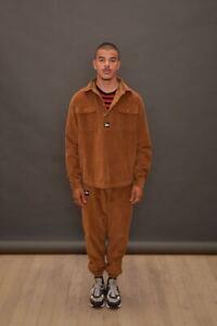 PATTA Corduroy Bottoms Brown | Size SmallS W28-30 | Pants Logo Script Cords
