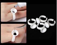 100 Pcs Disposable Glue Holder Ring Pallet for Eyelash Extension Tattoo Pigment