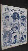 Revista Semanal Dibujada París Que Canta N º 164 Mars 1906 ABE