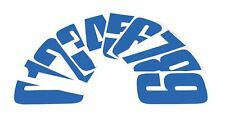 """Bike-It 6"""" inch Motorcycle MX / Race Numbers No. 3 Pack of 10 Blue"""
