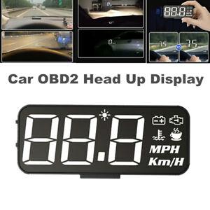 HUD Car OBD2 Head Up Display Digital Projector Speedometer Water Temp Volt MPH
