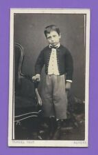 Photo CDV 1868 TERUEL NEVERS Enfant jeune garçon au regard triste A199