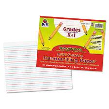 Pacon Multi-Sensory Raised Ruled Paper 8-1/2 x 11 White 100 Sheets/Pad 2471