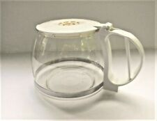 GEVALIA 10-Cup White Coffee Maker Replacement Glass Carafe with Lid
